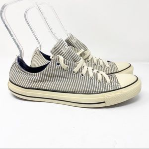 Converse Canvas Sneakers Stripe Sz 10